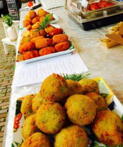 catering gerechten van Sapori di casa