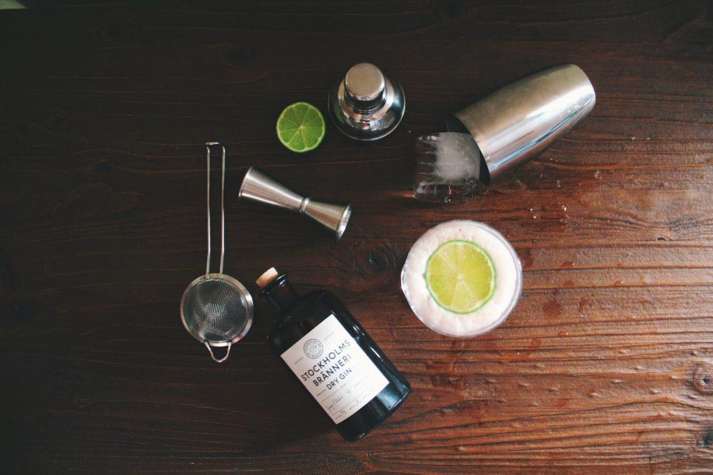 Cocktailshaker en tools
