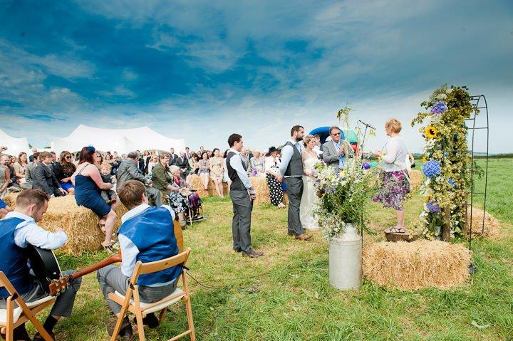 bruiloft festival bezoekers