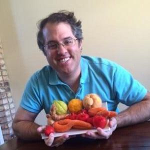 Man met Weird fruits & vegetables